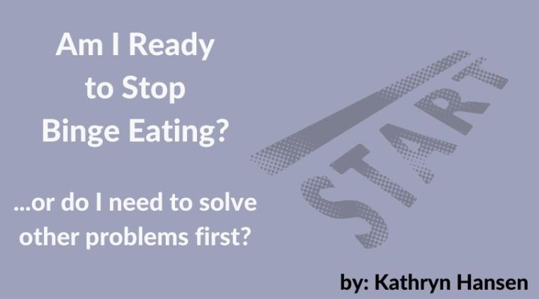 Am I ready to stop binge eating?