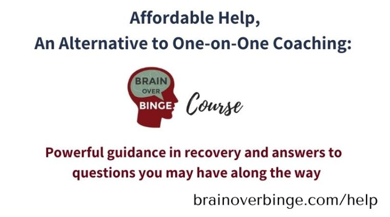 Brain over binge course affordable help