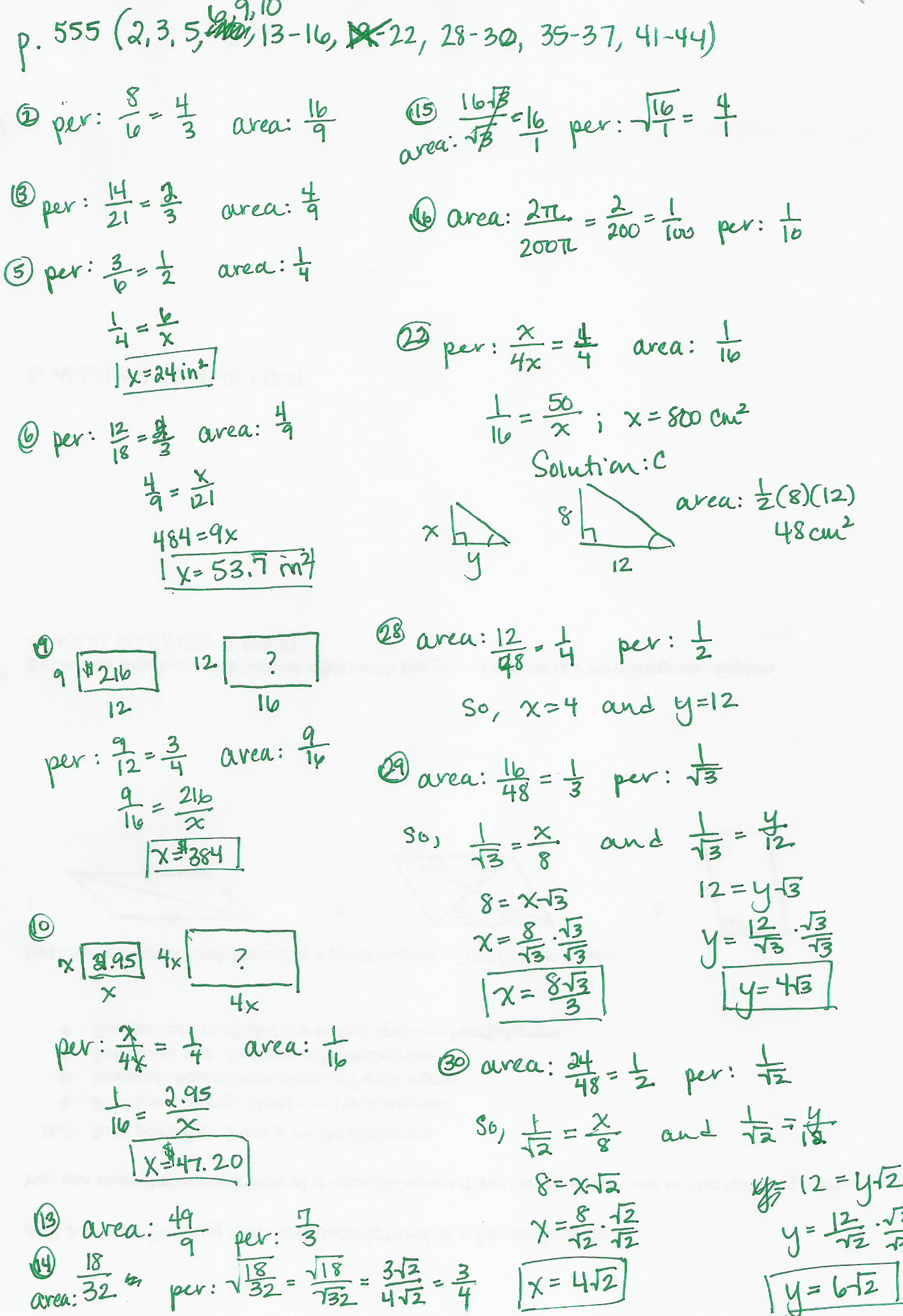 Algebra 1 Worksheets With Answer Key