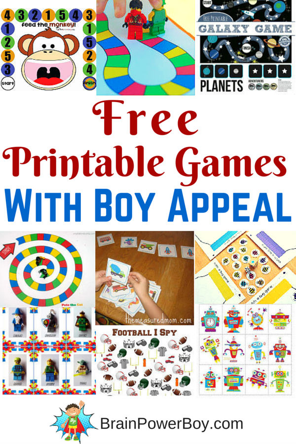 Free Printable Games For Kids Games For Boys