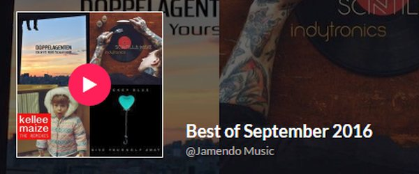 Curse the Day featured on renowned music site Jamendo as one of the best songs in September!