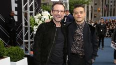 """NBCUNIVERSAL UPFRONT -- """"2016 NBCUniversal Upfront in New York City on Monday, May 16, 2016"""" -- Pictured: (l-r) Christian Slater and Rami Malek, """"Mr. Robot"""" on USA -- (Photo by: Cindy Ord/NBCUniversal)"""
