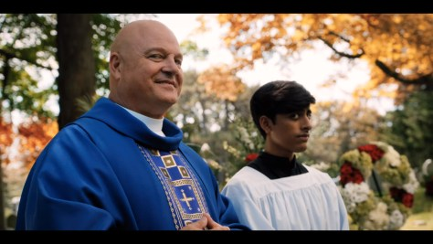 Father Dave, Hubie Halloween, Netflix, Happy Madison Productions, Michael Chiklis