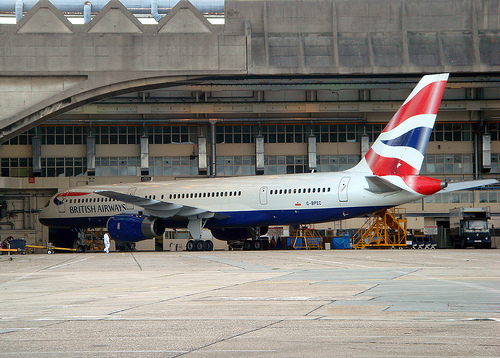British Airliner at London Heathrow Airport