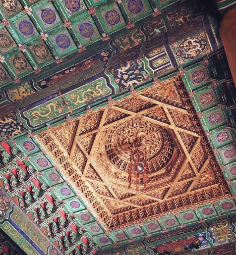 Chinese style ceiling in the Forbidden City