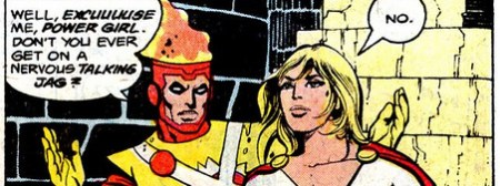Justice League 185 Power Girl Firestorm