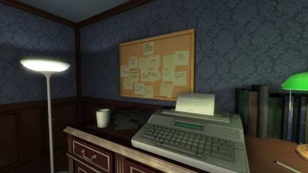Gone Home maquina de escribir electrica