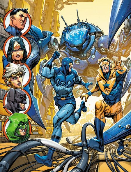 JL3000-12-december-cover-howard-porter-blue-beetle-booster-gold