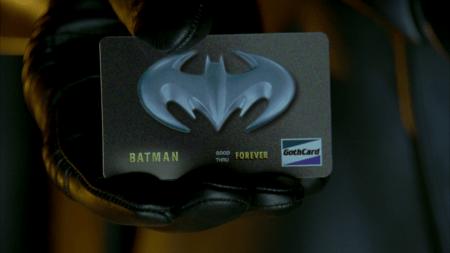 Batman & Robin Bat tarjeta de credito