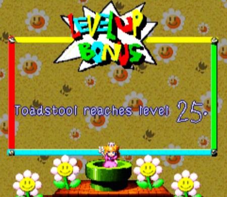 Mario RPG level up