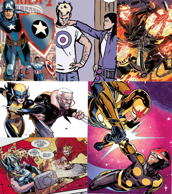 marvel-comics-duplicate-characters-hawkeye-thor-nova-captain-america-wolverine-ghost-rider