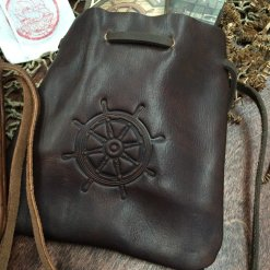 Double-Decker Leather Pouch