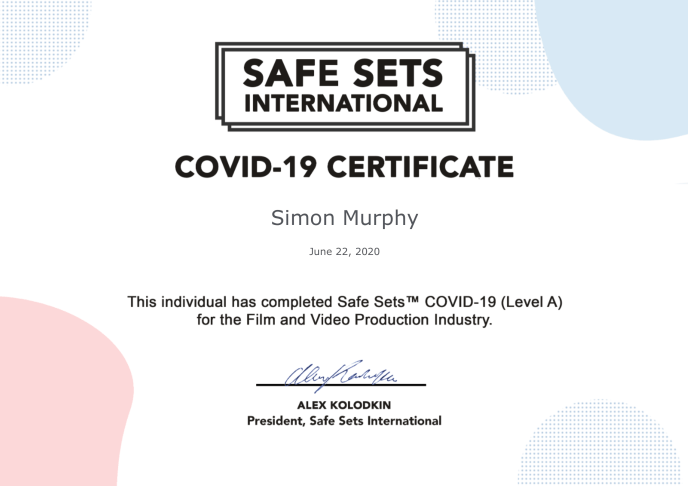 Safe Sets Certificate