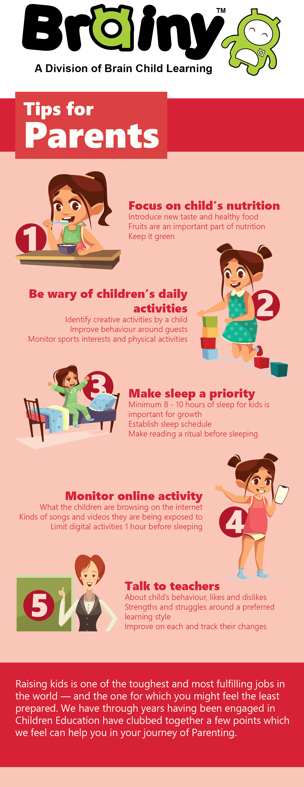 Tips For Parents For Better Parenting Infographic