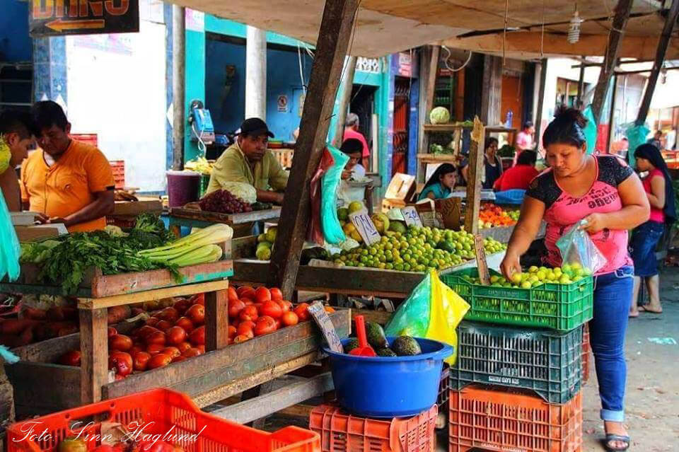 A fruit and vegetable market in Iquitos in Peru