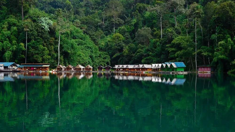 Cheow Lan Lake floating bungalows