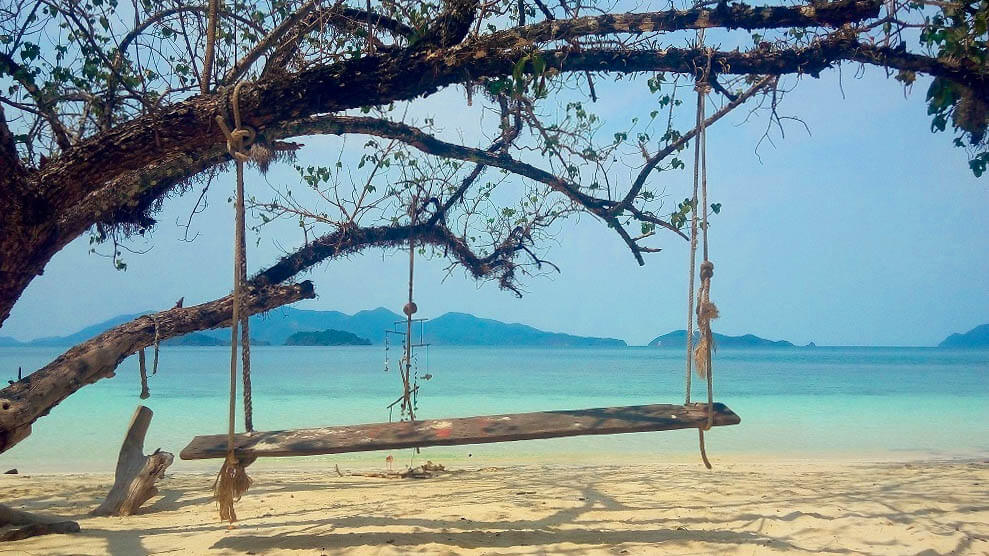 A swing on the beach in Koh Wai
