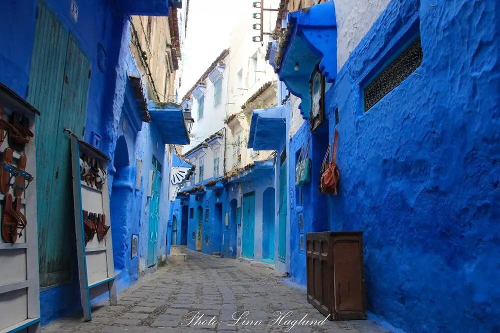 An empty street in Chefchaouen