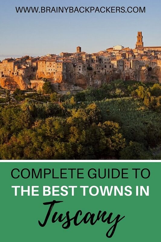 Complete guide to the best towns in Tuscany. Where to stay and how to get there. #travelguide #tuscany #traveltips #italy #europe