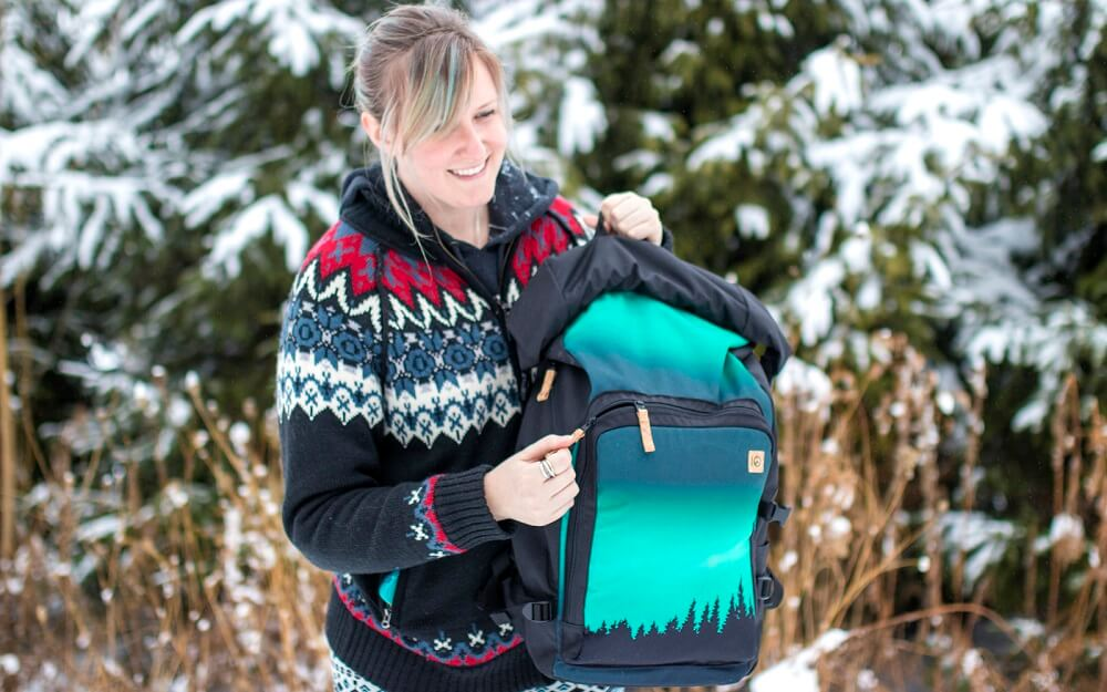 eco friendly backpack from Tentree