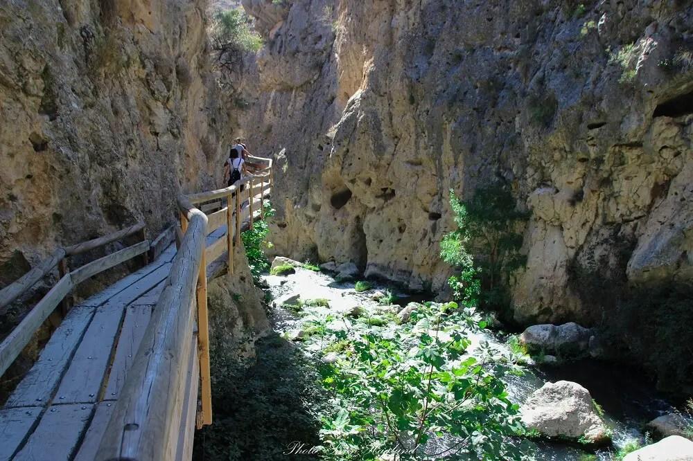 There are many secret places to visit in Spain like Sendero de la Cerrada del Rio Castril