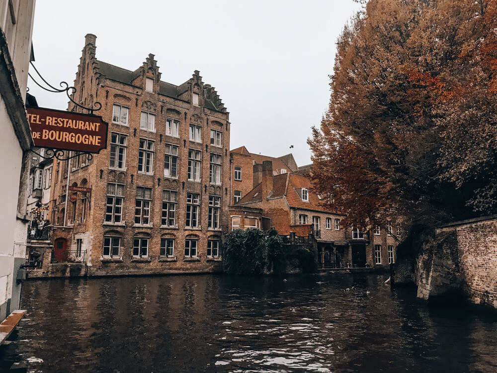 Bruges Canal - perfect Paris day trips by train