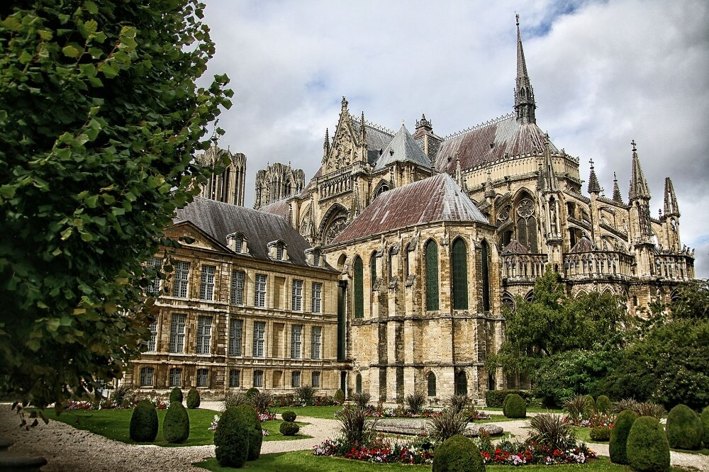Notre Dame of Reims is a day trip from Paris