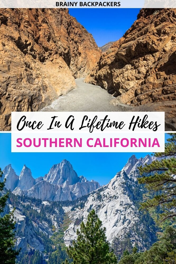 Are you looking for southern California hikes? Here are some of the best hikes in southern California including what to pack when hiking southern California. Hikes for all levels and day hikes and multi-day backpacking in southern California. #unitedstates #brainybackpackers