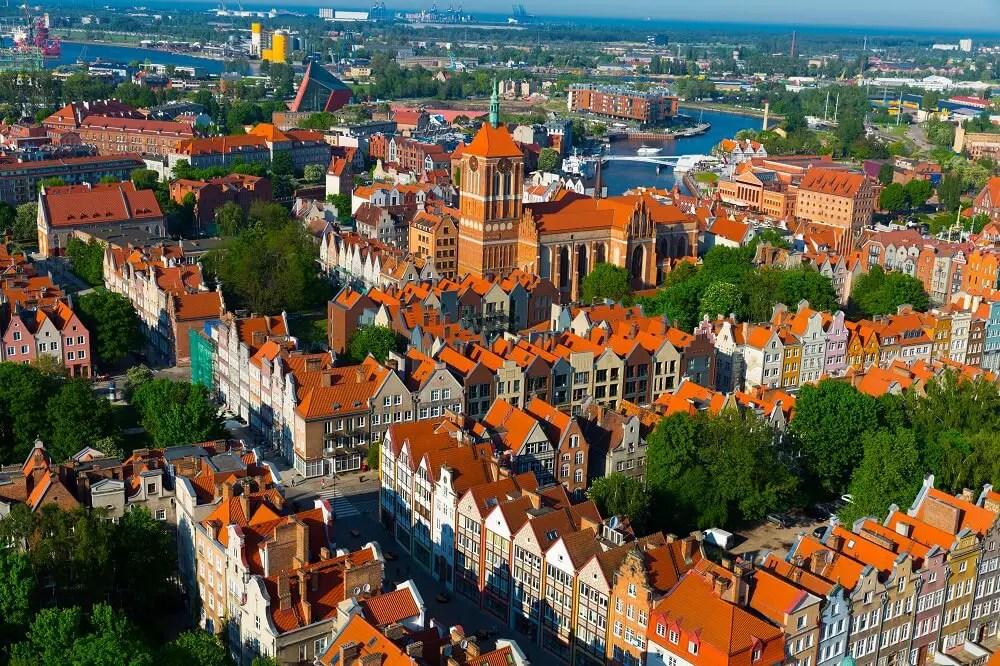 Gdansk city view