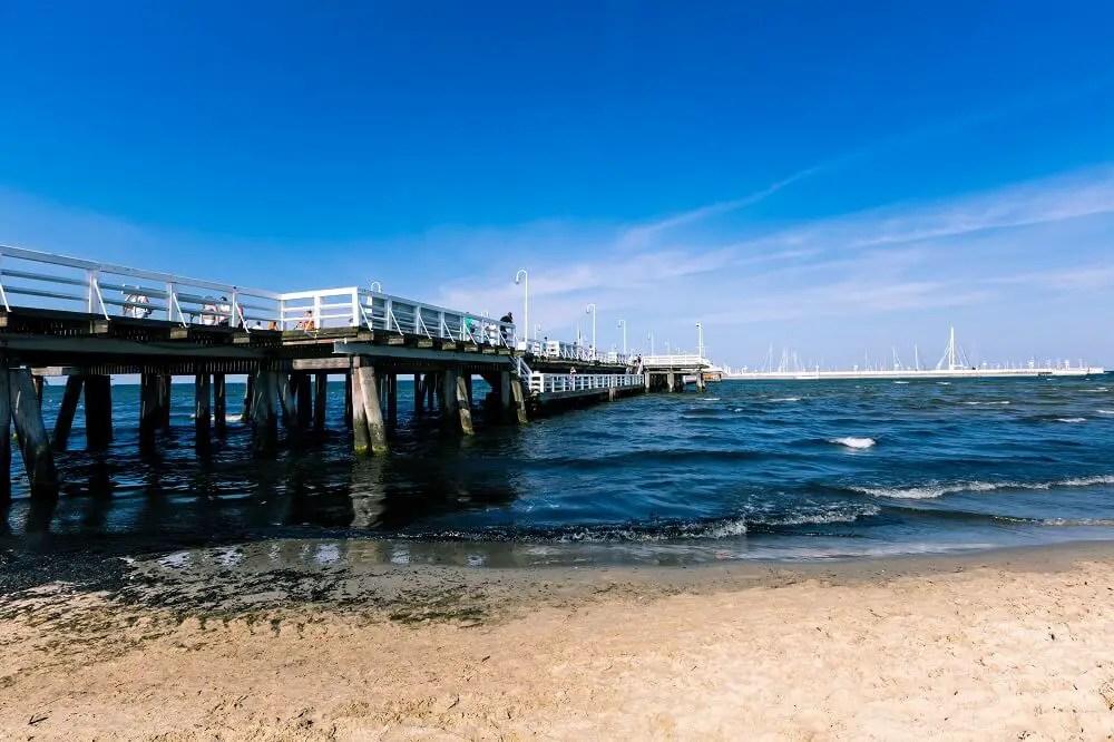 Europe's longest wooden pier in Sopot
