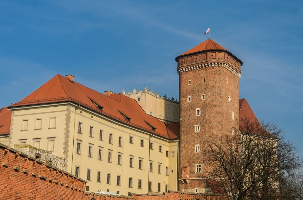 Wawel Castle Krakow winter