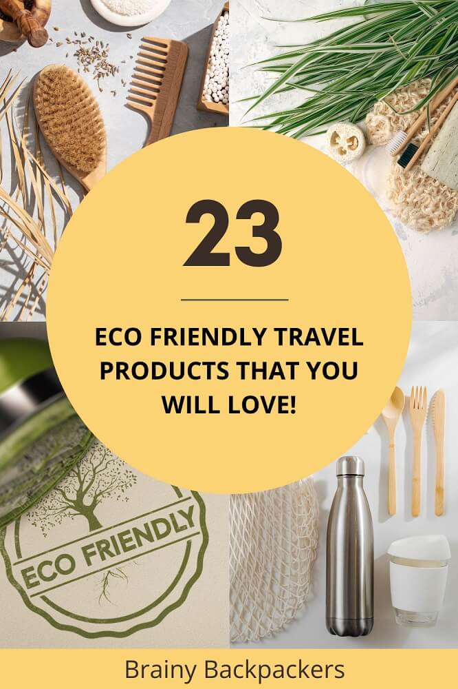 Are you looking for eco friendly travel products to make your future travel greener? Fin dthe best eco friendly travel accessories here and start your sustainable travel journey.