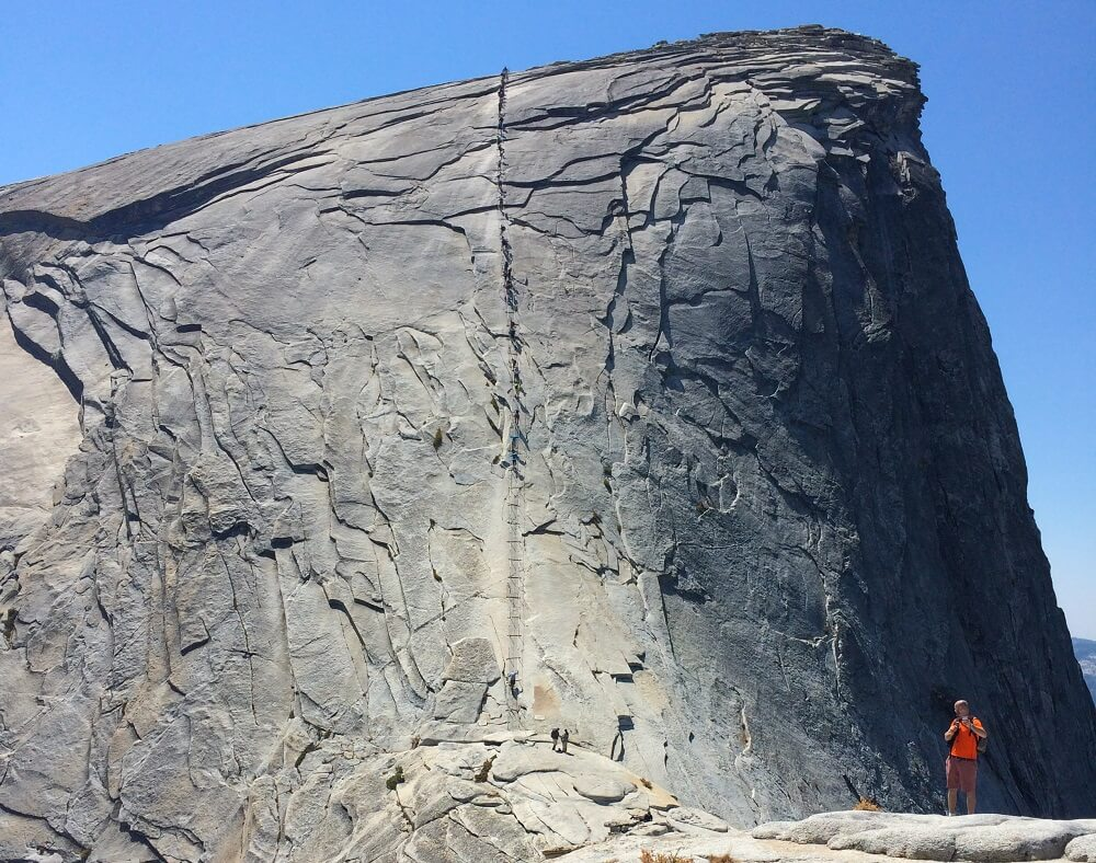 Hiking Half Dome peak