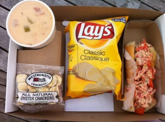 Special #2: Lobster Roll, Chips and a Large Bowl of Clam Chowder