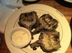 Oak Grilled Artichokes