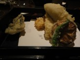 Taro and Shrimp Tempura