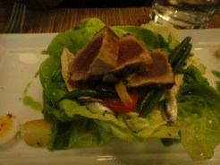 Niçoise Salad With Tuna Duo - Seared and Confit Potatoes, Green Beans, Piperade, Quail Egg White Anchovies