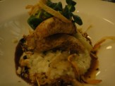 Roasted John Dory With Truffle Risotto, Glazed Salsify and Turnip Chicken Jus