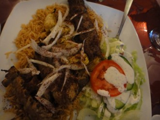 Special Combo - Chapli, Tikka and Chicken With Rice and Salad