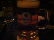 Krombacher on tap