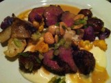 Boileau Venison with foie gras emulsion, cauliflower, Medjool dates, shiitake mushrooms and Marcona almonds