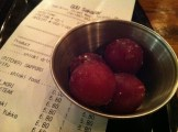 Frozen Grapes with the bill