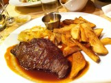 Beef Bavette with coleslaw and fries