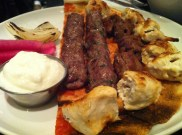 Mixed Grill: Grilled Brochettes, Kefta Served With Hummus, Garlic