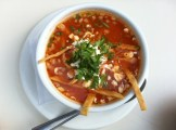 Tortilla Soup: Chicken Broth, Tortilla, Cream, Cheese