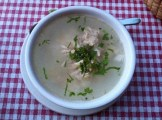 Chicken Soup with Rice, Onions, Coriander