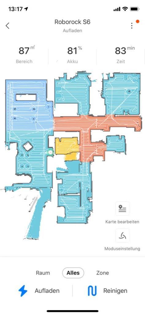 roborock s6 mapa