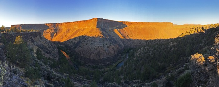 Panoramic of the Crooked River Canyon from the Crooked River Ranch RV Park
