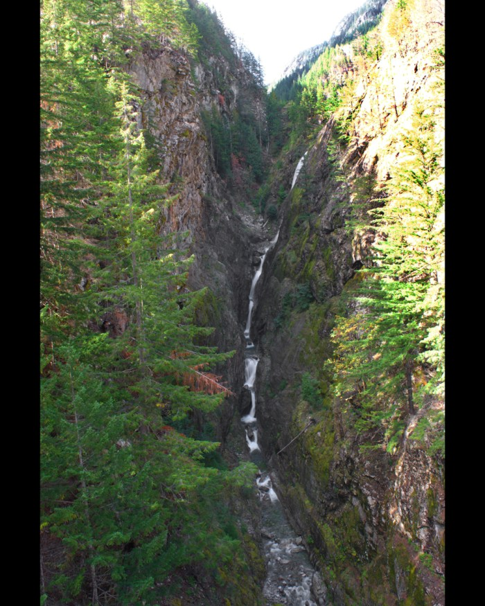 Multiple-level falls as seen from the Gorge Creek bridge on Route 20