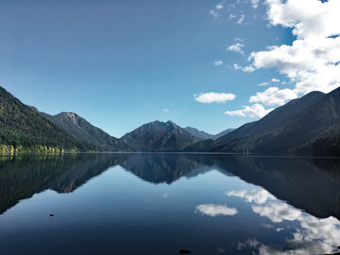 View of Lake Crescent on the drive to Sol Duc Falls